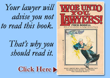 Woe Unto You Lawyers! book cover